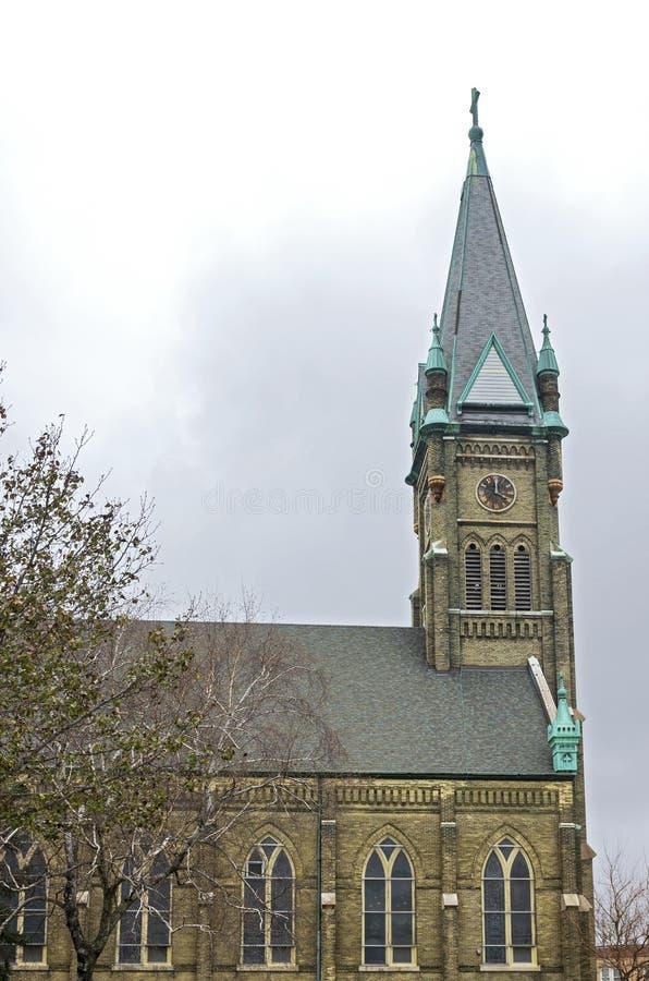 Torre y nave emblemática de Milwaukee imagen de archivo libre de regalías