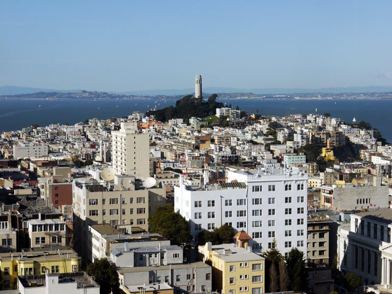 Torre y San Francisco de Coit fotografía de archivo libre de regalías