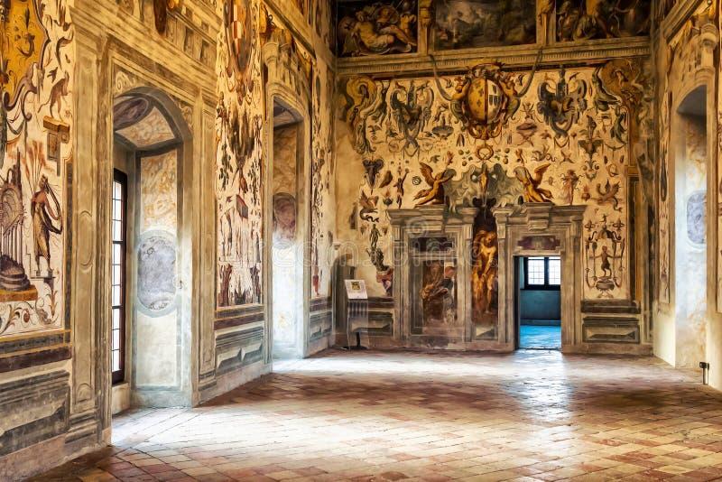 Torrechiara城堡 意大利 库存图片
