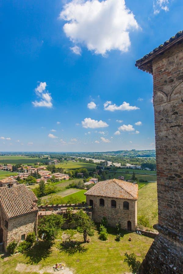 Torrechiara Castle στην επαρχία της Πάρμας, Αιμιλία-Ρωμανία Ιταλία στοκ φωτογραφίες με δικαίωμα ελεύθερης χρήσης