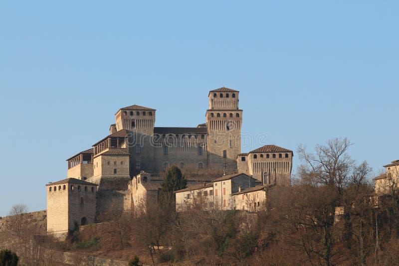 Torrechiara kasztel, Parma, Włochy zdjęcia stock