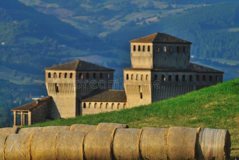 Torrechiara Schloss Italien lizenzfreies stockbild