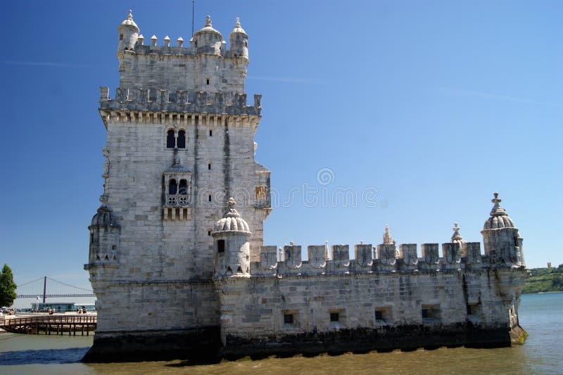 Torrede Belem Belem Toren stock afbeelding