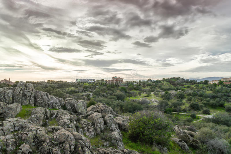Torrelodones, Madri, Espanha imagens de stock