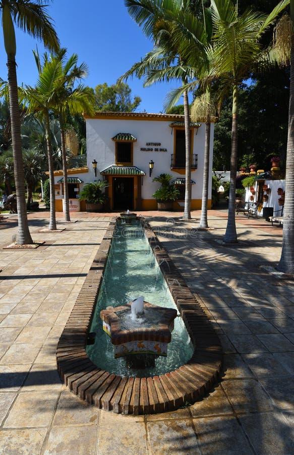 Torremolinos botanical gardens Jardin Botanico Molino de Inca. TORREMOLINOS, ANDALUCIA, SPAIN - SEPTEMBER 22, 2018: Torremolinos botanical gardens Jardin stock images