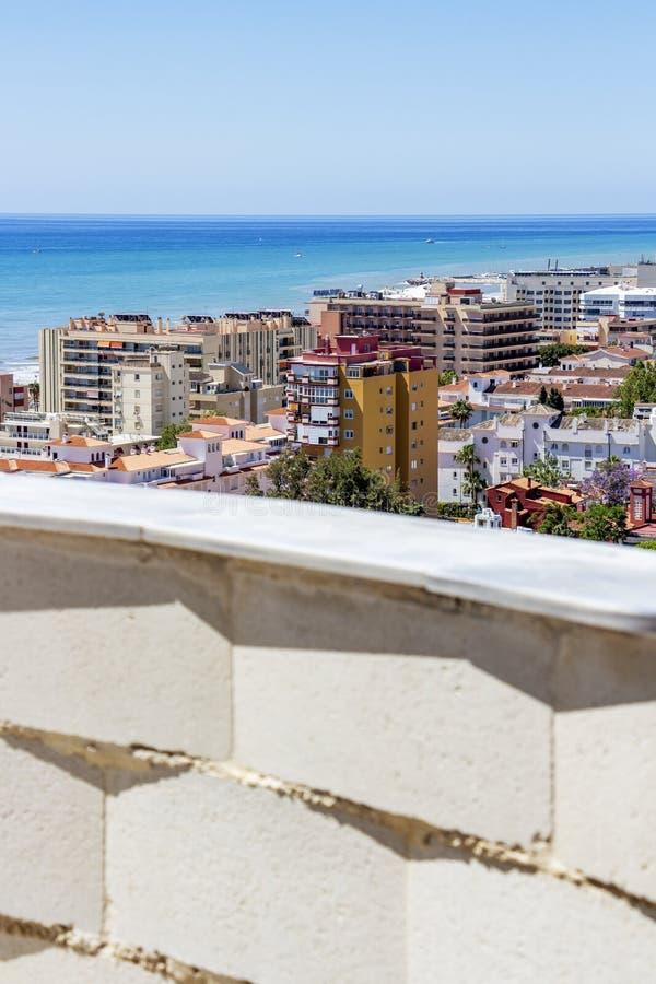 Torremolinos, Andalusia, Hiszpania widok obrazy royalty free