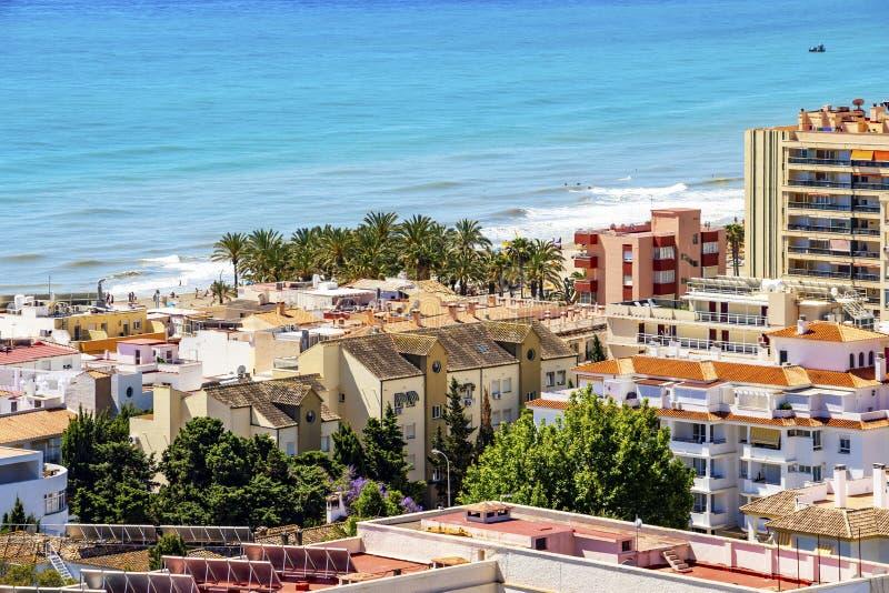 Torremolinos, Andalusia, Hiszpania widok obrazy stock