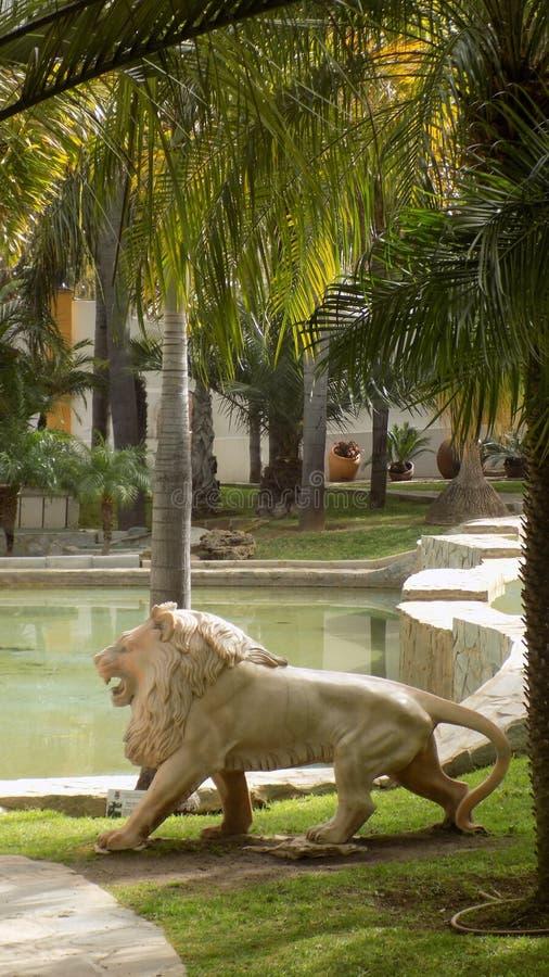 Torremolinos-Botanic Gardens-MOLINO DEL INCA. Sculpture stock image