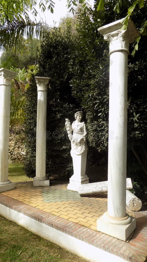 Torremolinos-Botanic Gardens-MOLINO DEL INCA. Sculpture royalty free stock image