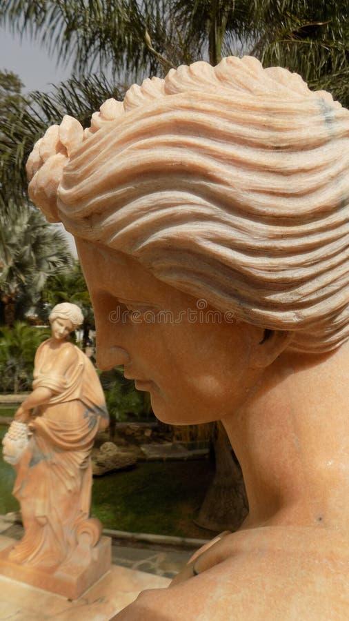 Torremolinos-Botanic Gardens-MOLINO DEL INCA. Sculptures stock photo