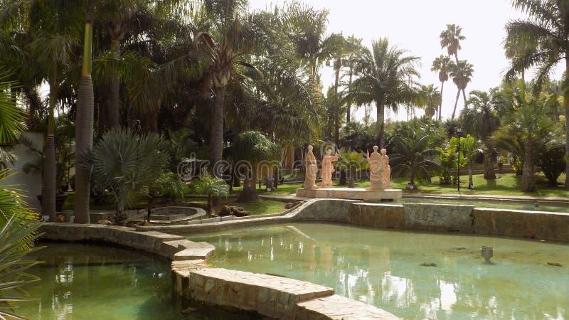 Torremolinos-Botanic Gardens-MOLINO DEL INCA. Sculptures royalty free stock images