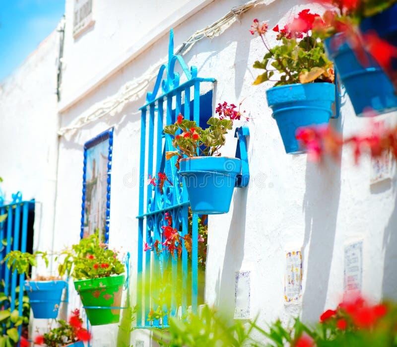 Torremolinos. Spansk vit by royaltyfri foto