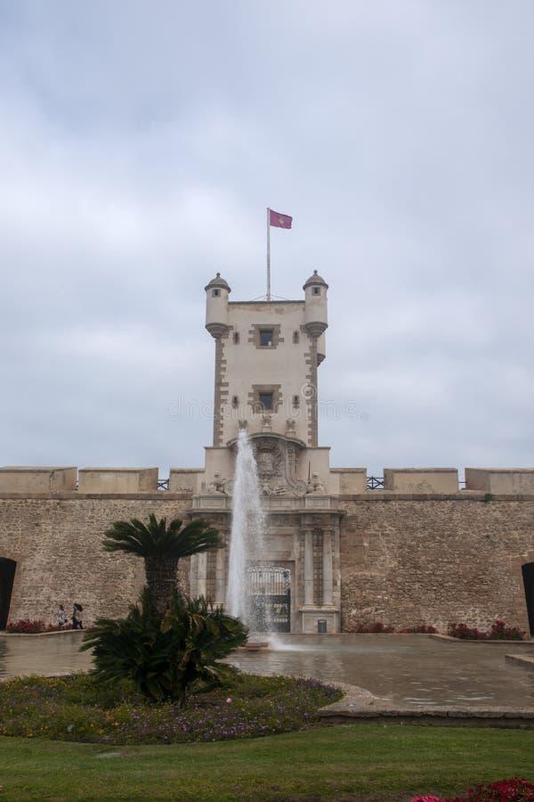 Torren De Tierra Gate in der Stadt von Cadiz, Andalusien stockfoto