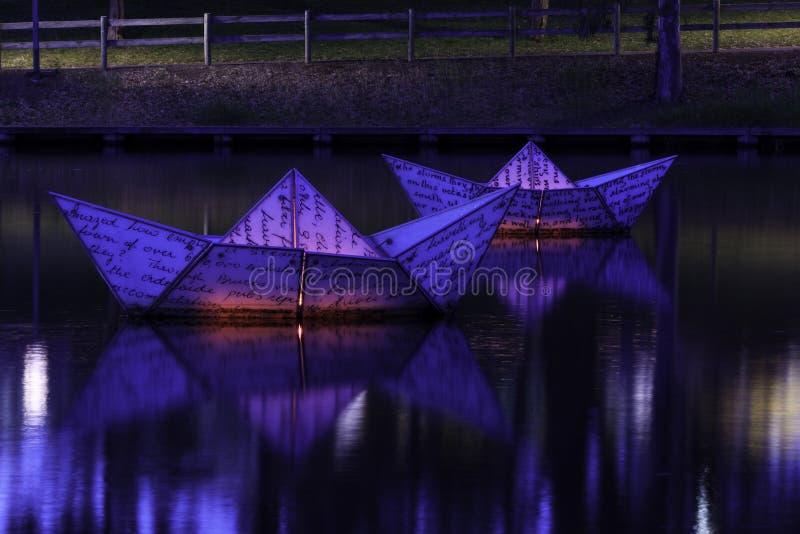Torrens bij nacht stock fotografie