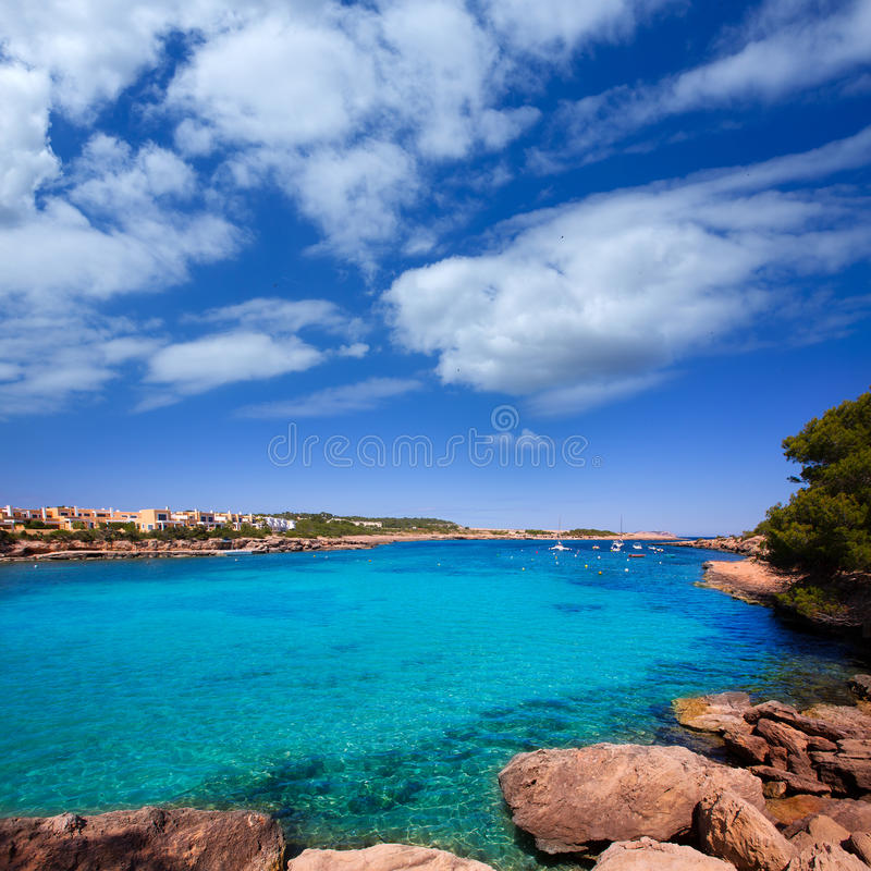 Torrente do DES do porto de Ibiza perto da praia de San Antonio fotografia de stock royalty free