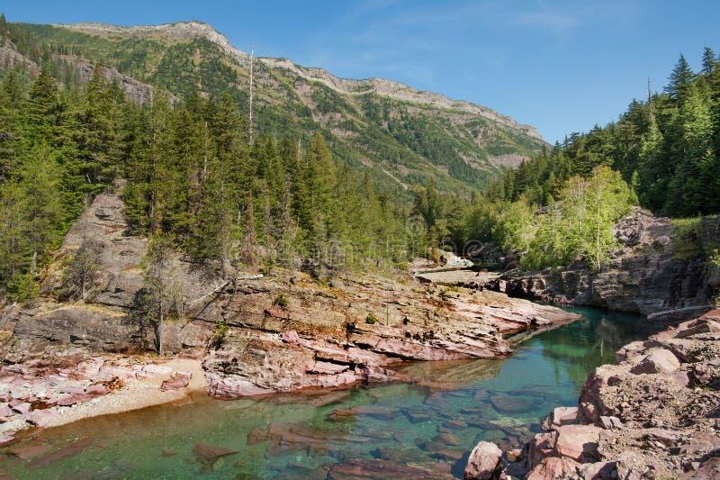 Torrente montano nel Montana fotografia stock libera da diritti
