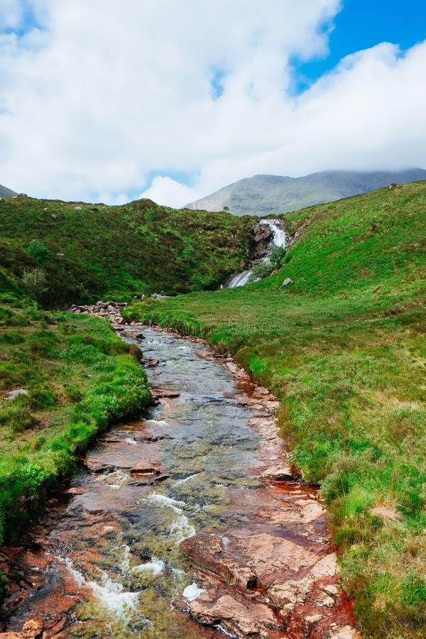 Torrente montano Scozia fotografie stock libere da diritti