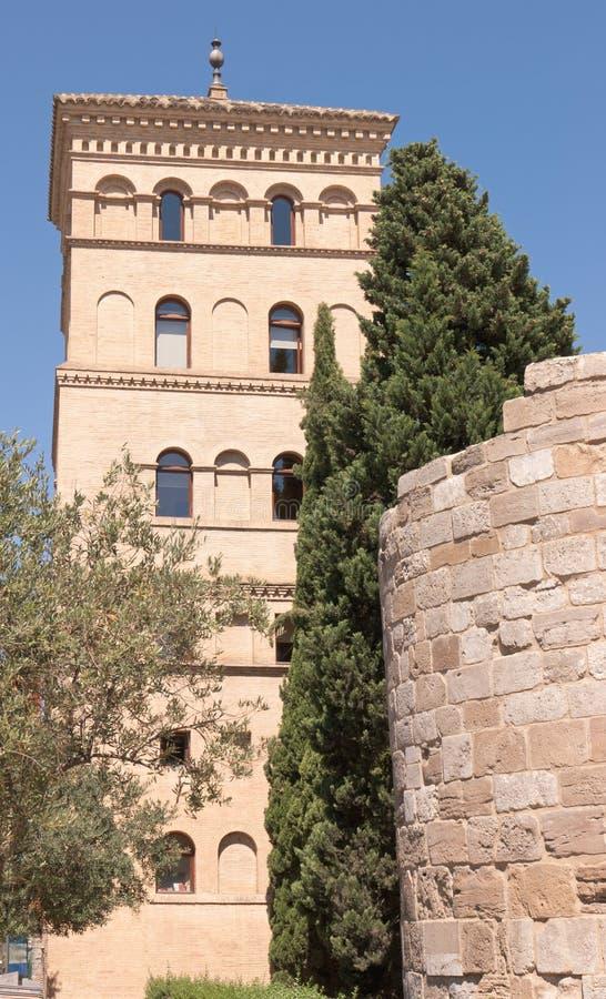 Torreon de la Zuda a Zaragoza immagini stock libere da diritti