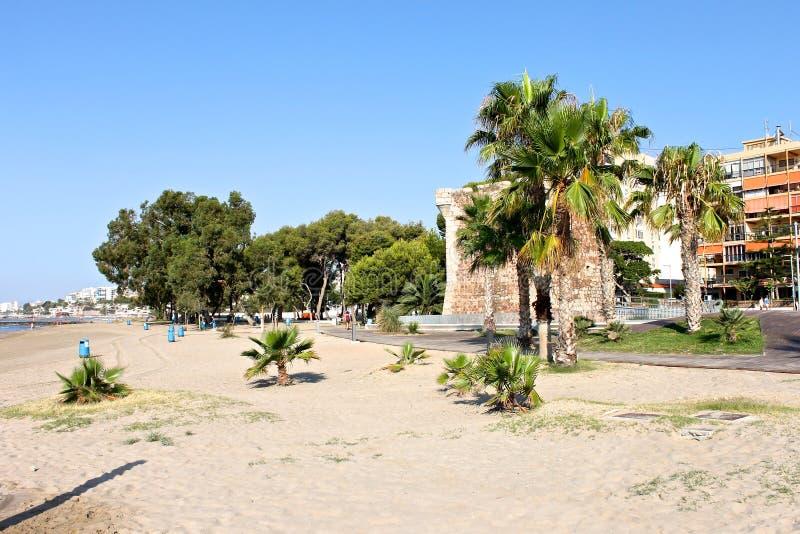 Torreon De San Vincente, Benicassim, Hiszpania zdjęcia royalty free