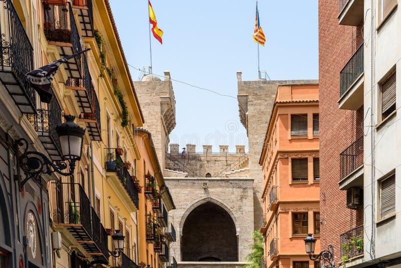 Torres (πύργοι) de Quart In Βαλένθια στοκ εικόνα