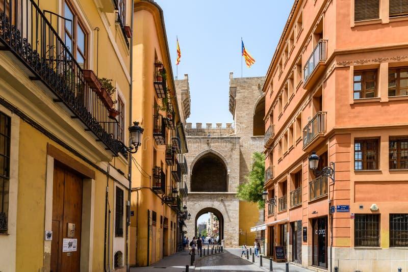 Torres (πύργοι) de Quart In Βαλένθια στοκ εικόνα με δικαίωμα ελεύθερης χρήσης