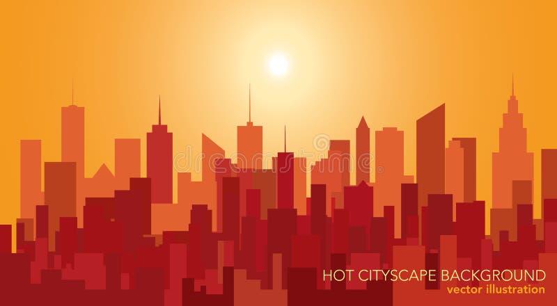 Torres calientes de la ciudad stock de ilustración