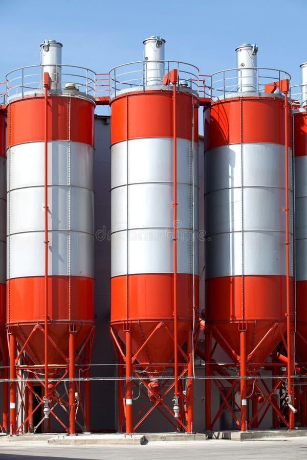 Torres da fábrica imagem de stock