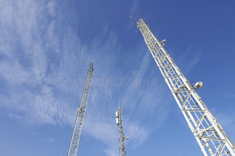 Torres das telecomunicações fotos de stock royalty free