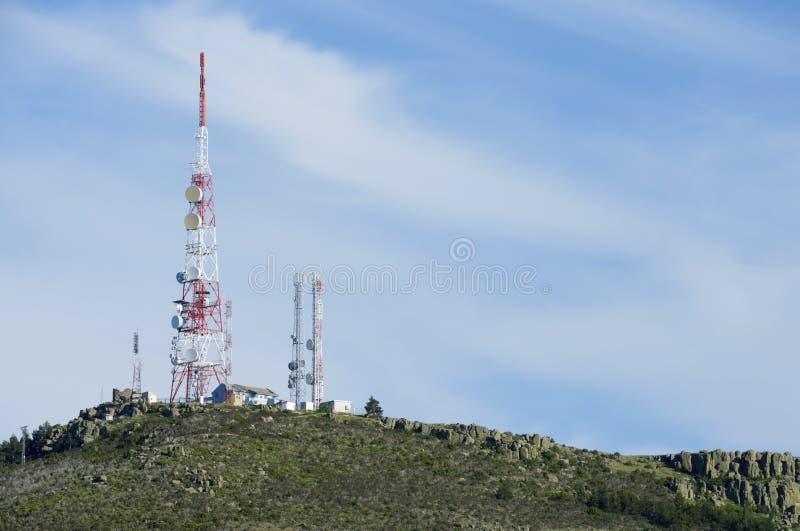 Torres das telecomunicações fotos de stock