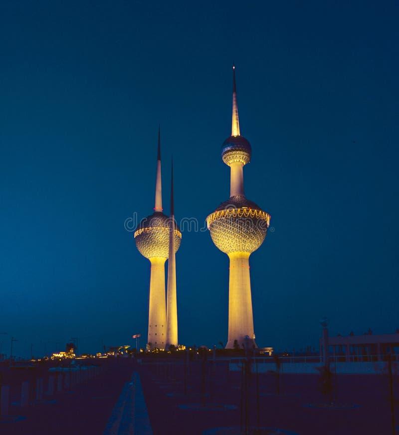 Torres de agua de Kuwait imagenes de archivo