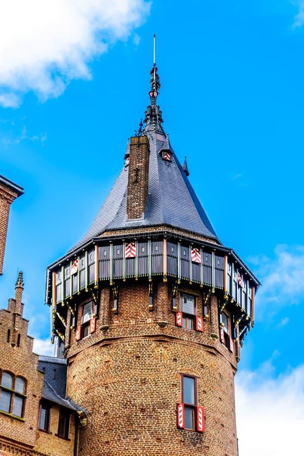 Torres de Castle De Haar, del castillo una reconstrucción del siglo XIV totalmente en los fin del siglo XIX fotografía de archivo