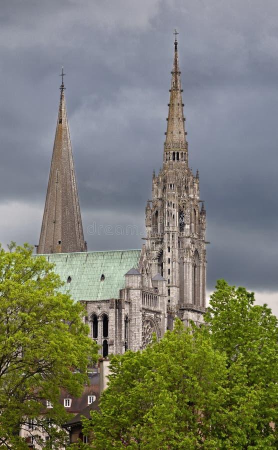 Torres de Chartres foto de stock