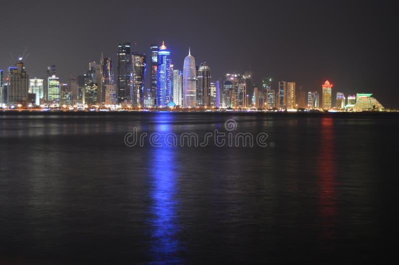 Torres de Doha imagenes de archivo