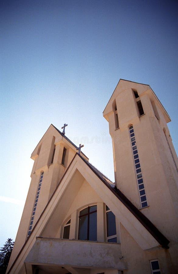 Torres de iglesia fotos de archivo libres de regalías