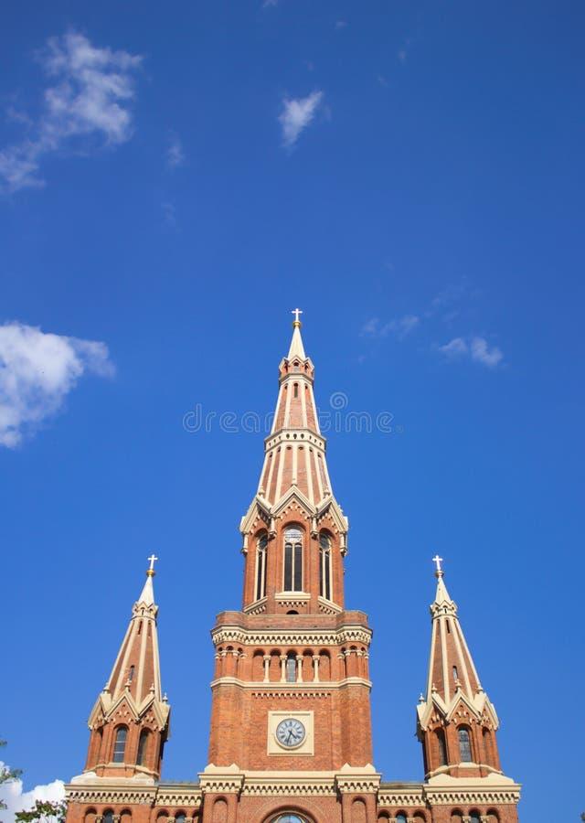 Torres de igreja fotografia de stock royalty free