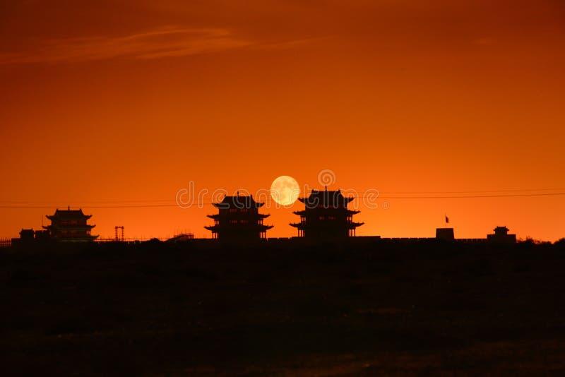Torres de Jiayuguan em China imagens de stock royalty free