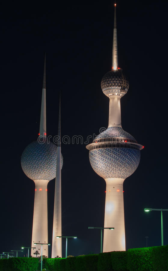 Torres de Kuwait foto de archivo libre de regalías