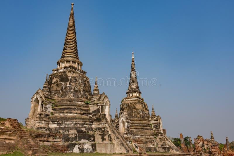 Torres de la ciudad antigua de Ayutthaya la vieja capital de Tailandia fotos de archivo libres de regalías