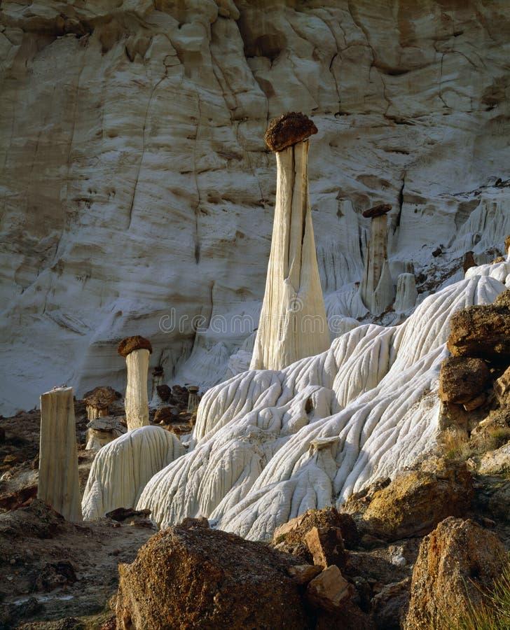 Torres de la piedra arenisca de las malas sombras de Wahweap del silencio en la escalera magnífica Escalante Utah, América de Uta fotografía de archivo libre de regalías
