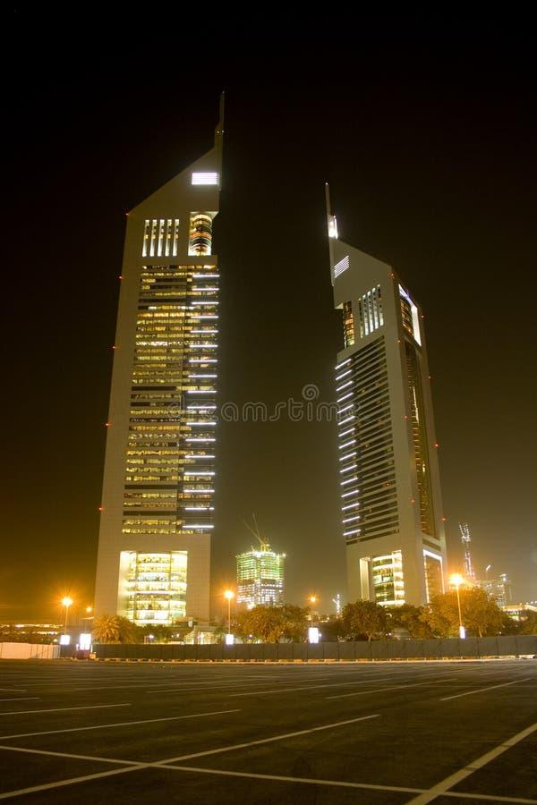 Torres de los emiratos foto de archivo libre de regalías