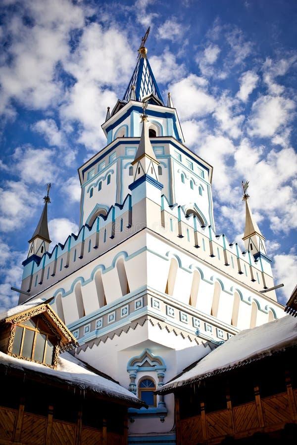 Torres de madeira decoradas imagem de stock royalty free