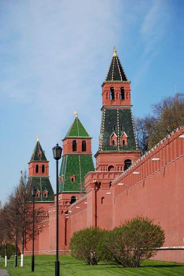 Torres de Moscovo Kremlin. imagem de stock