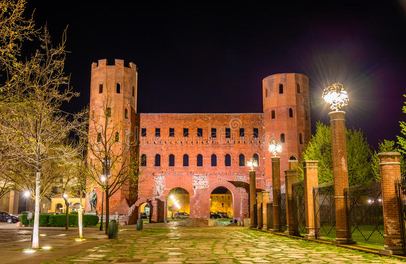 Torres de Palatine en Turín fotografía de archivo