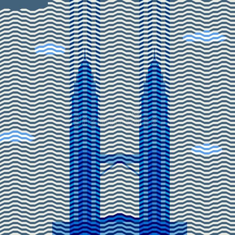 Torres de Petronas ilustração stock