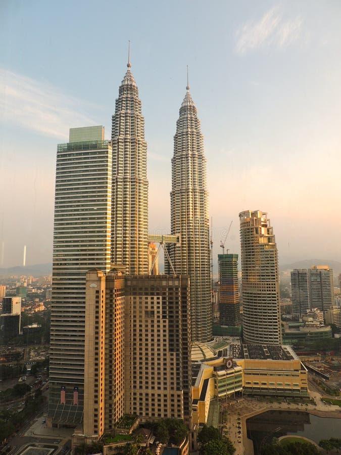Torres de Petronas en Kuala Lumpur foto de archivo libre de regalías