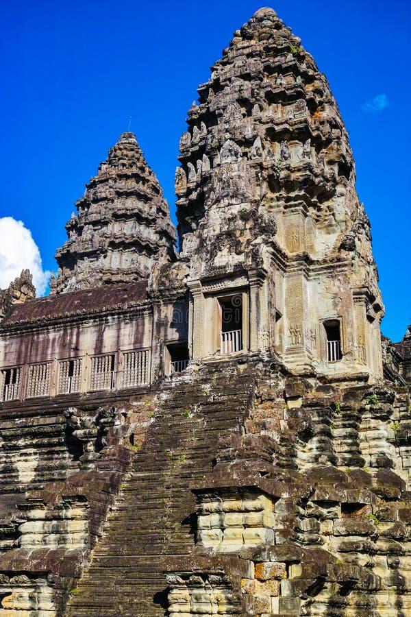 Torres de piedra de Angkor Wat imagen de archivo