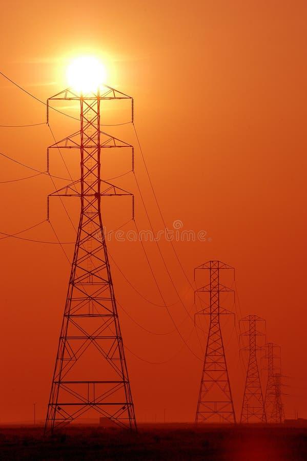 Torres de potencia imagenes de archivo