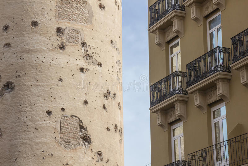 Torres de quart, ιστορικό φρούριο της παλαιάς πόλης της Βαλένθια, Ισπανία στοκ φωτογραφία με δικαίωμα ελεύθερης χρήσης