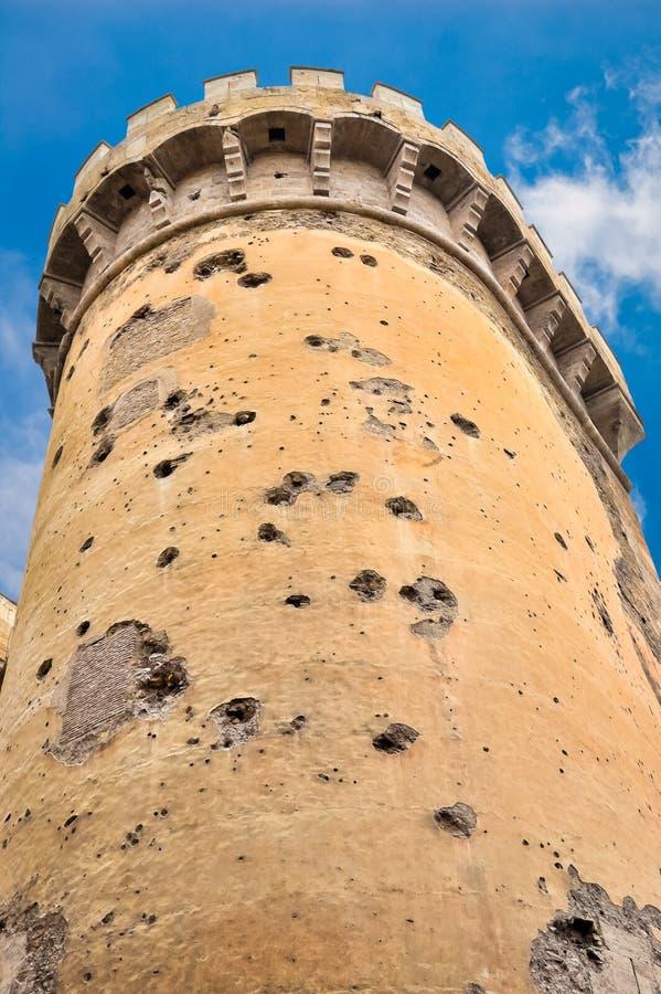 Torres de Quart en Valencia, España imagen de archivo