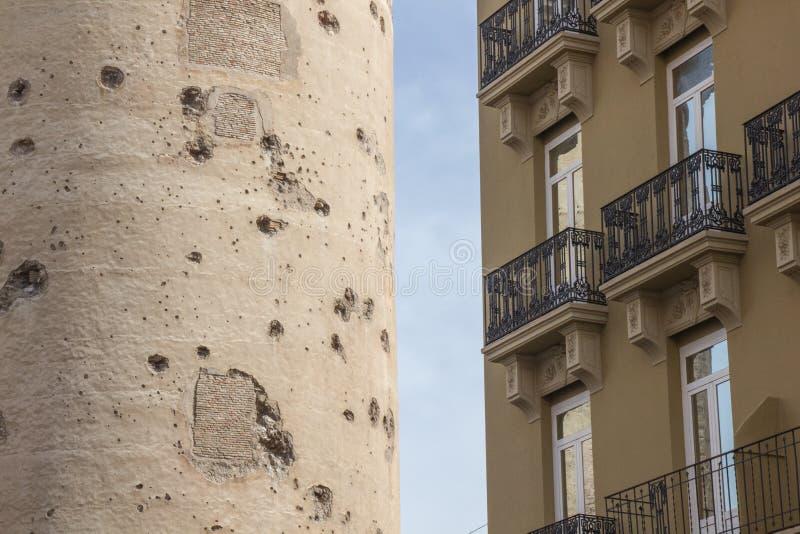 Torres de quart, fortezza storica di vecchia città di Valencia, Spagna fotografia stock libera da diritti